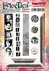 Paper Artsy - Eclectica Cling Mounted Rubber Stamps - Everything Art 06