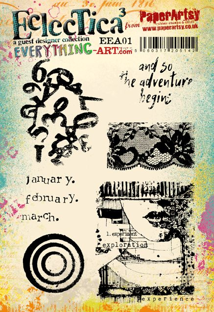 Cling Stamps - Eclectica Everything Art