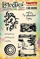 Paper Artsy - Eclectica Cling Mounted Rubber Stamps - Everything Art Set 01