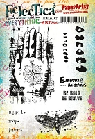 Paper Artsy - Eclectica Cling Mounted Rubber Stamps - Everything Art Set 02