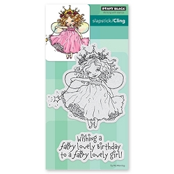 Penny Black - Slapstick Cling Stamp - Fairy Birthday