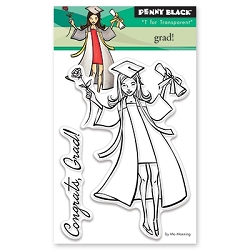 Penny Black - Clear Stamp - Grad!