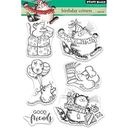 Penny Black - Clear Stamp - Birthday Critters