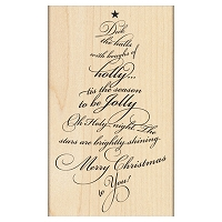 Penny Black - Wood mounted rubber stamp - Caroling Tree