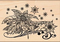 Penny Black - Wood Mounted Stamp - Floral Notes
