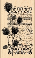 Penny Black - Wood Mounted Stamp - Christmas Notes