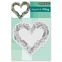 Penny Black - Slapstick Cling Stamp - Heart Wreath