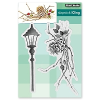 Penny Black - Slapstick Cling Stamp - Cones & Berries