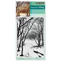Penny Black - Slapstick Cling Stamp - Wintry Trail