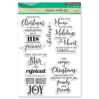 Penny Black - Clear Stamp - Rojoice With Joy