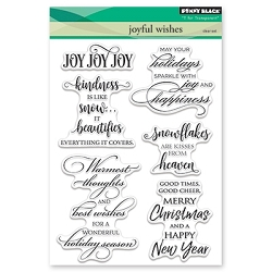 Penny Black - Clear Stamp - Joyful Wishes