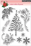 Penny Black-Clear Stamp-Winter White and Green