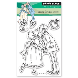 Penny Black - Clear Stamp - Kisses for my Sweet