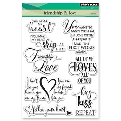 Penny Black - Clear Stamp - Friendship & Love