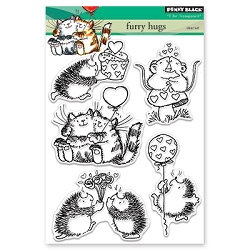 Penny Black - Clear Stamp - Furry Hugs