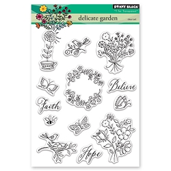 Penny Black - Clear Stamp - Delicate Garden