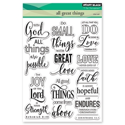 Penny Black - Clear Stamp - All Great Things