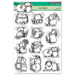 Penny Black - Clear Stamp - Cat Days
