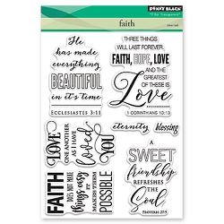Penny Black - Clear Stamp - Faith