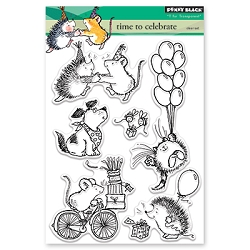 Penny Black - Clear Stamp - Time to Celebrate