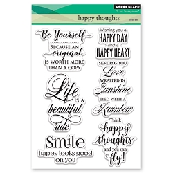 Penny Black - Clear Stamp - Happy Thoughts