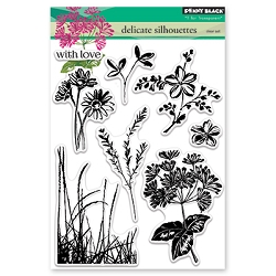 Penny Black - Clear Stamp - Delicate Silhouettes
