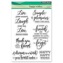 Penny Black - Clear Stamp - Happy Wishes