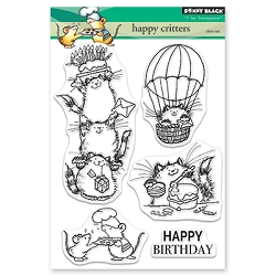 Penny Black - Clear Stamp - Happy Critters