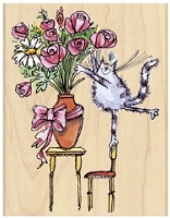 Penny Black - Wood Mounted Rubber Stamps - Furry Florist