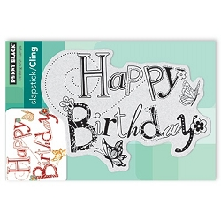 Penny Black - Slapstick Cling Stamp - Birthday Hooplah
