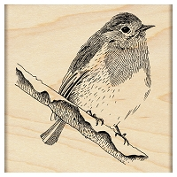 Penny Black - Wood Mounted Stamp - Winter Perch