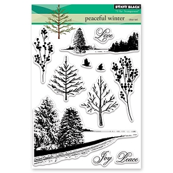 Penny Black - Clear Stamp - Peaceful Winter