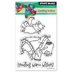 Penny Black - Clear Stamp - Sending Wishes