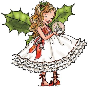 Penny Black Slapstick Cling Stamp Fairy Holly