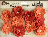 Petaloo - Dahlias x 10 - Darjeeling Tea Stained Spice