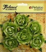 Petaloo - Canvas Garden Rosettes - Green (6 pcs)