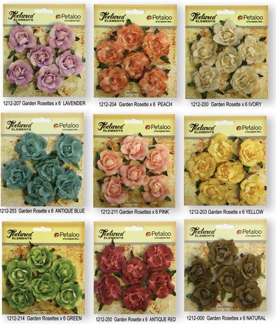 Petaloo - Canvas Garden Rosettes