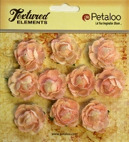 Petaloo - Canvas Mini Garden Rosettes - Pink (10 pcs)