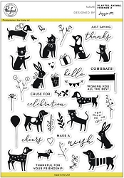 Pink Fresh Studio - Clear Stamps - Playful Animal Friends 2