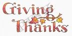 Pink Ink - Wood Mounted Rubber Stamp - Giving Thanks