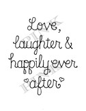 Pink Ink - Wood Mounted Rubber Stamp - Happily Ever After