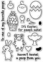 PoppyStamps - Clear Stamp Set - To All My Peeps clear stamp set