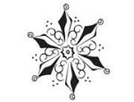 Prickley Pear Cling Stamp - Small Snowflake