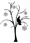 Prickley Pear Cling Stamp - Partridge in Snowflake Tree