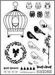 Prickley Pear Clear Stamp -Birdcage 2