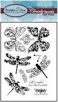 Prickley Pear Clear Stamp - Dragonflies 2