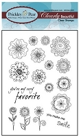 Prickley Pear - Clear Stamp Set - Blobby Flowers 5