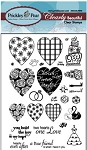 Prickley Pear Clear Stamp -Heart/Key/Crown