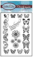 Prickley Pear Clear Stamp - Mini Butterflies
