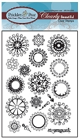 Prickley Pear Clear Stamp - Gears